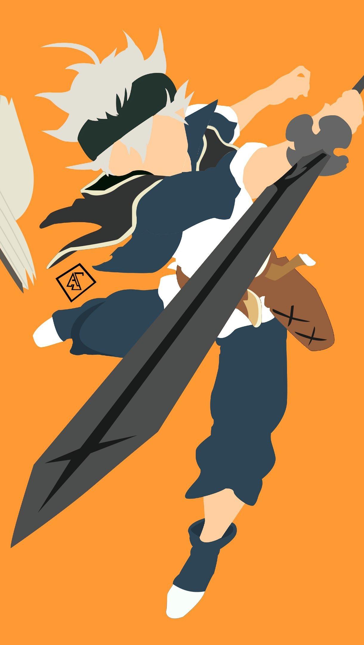 Anime Wallpaper Asta from Black Clover Vertical