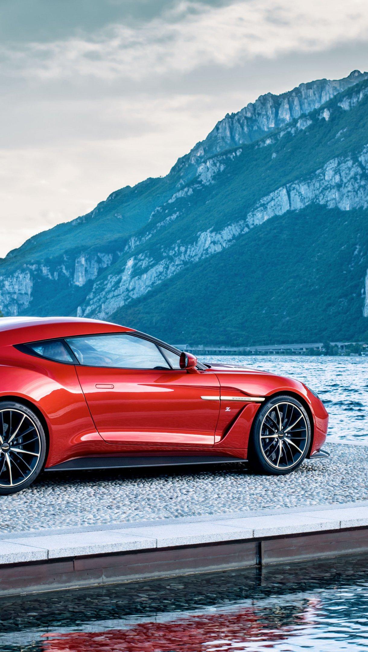 Wallpaper Red Aston Martin Zagato Vertical