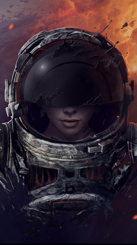 Wallpaper Astronaut Vertical