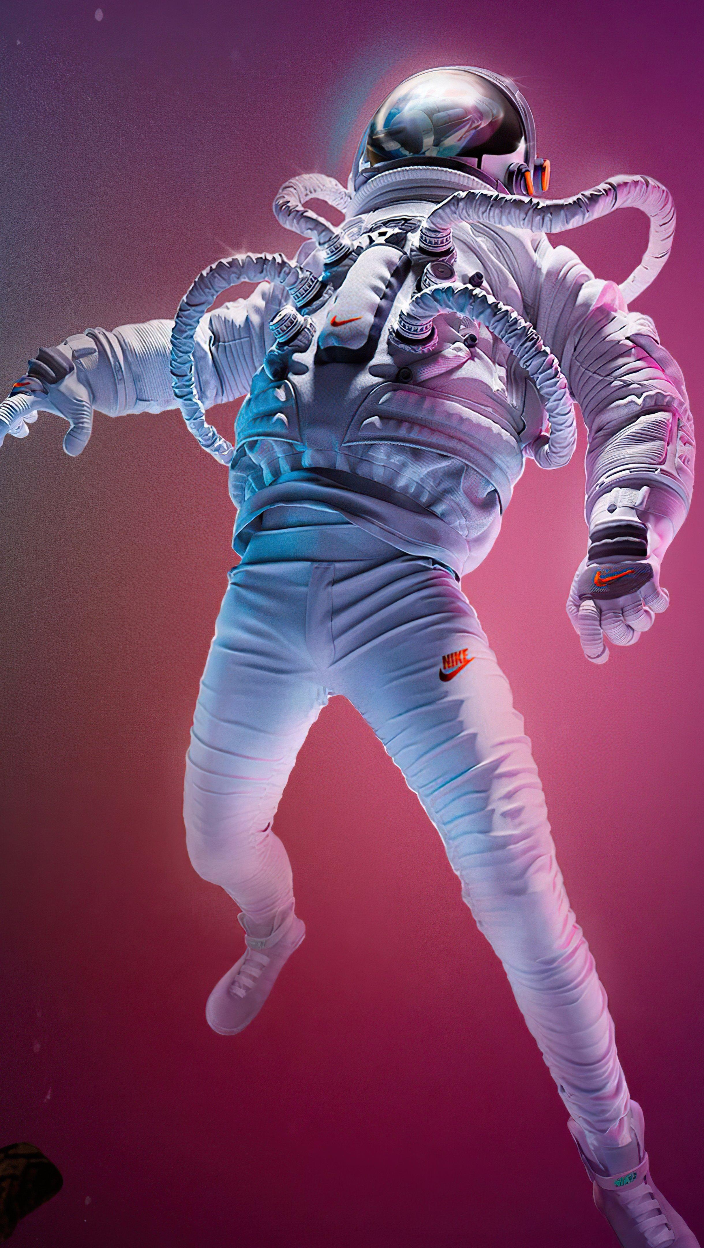 Wallpaper Astronaut falling Vertical