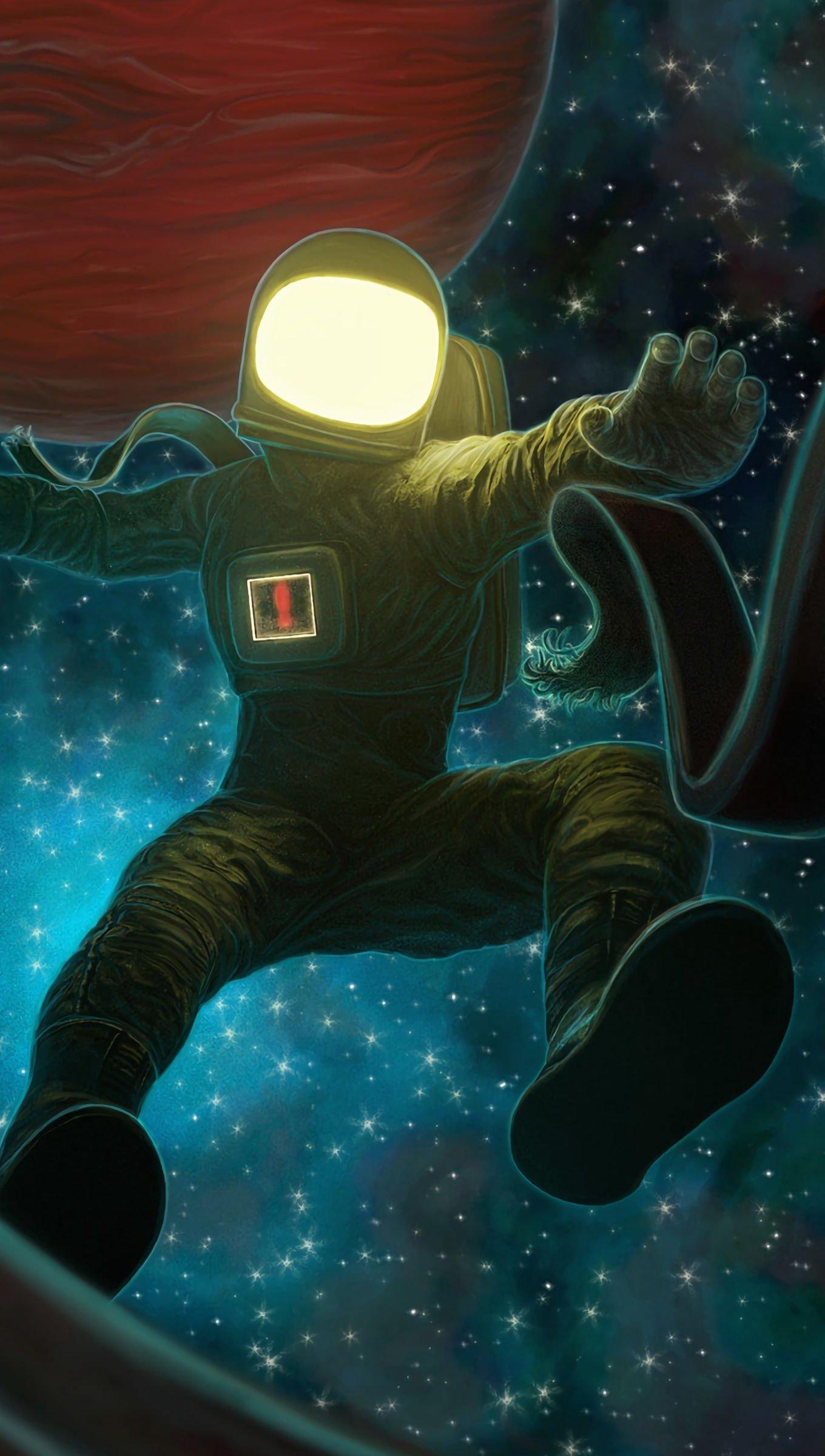 Fondos de pantalla Astronauta cayendo en el espacio Vertical