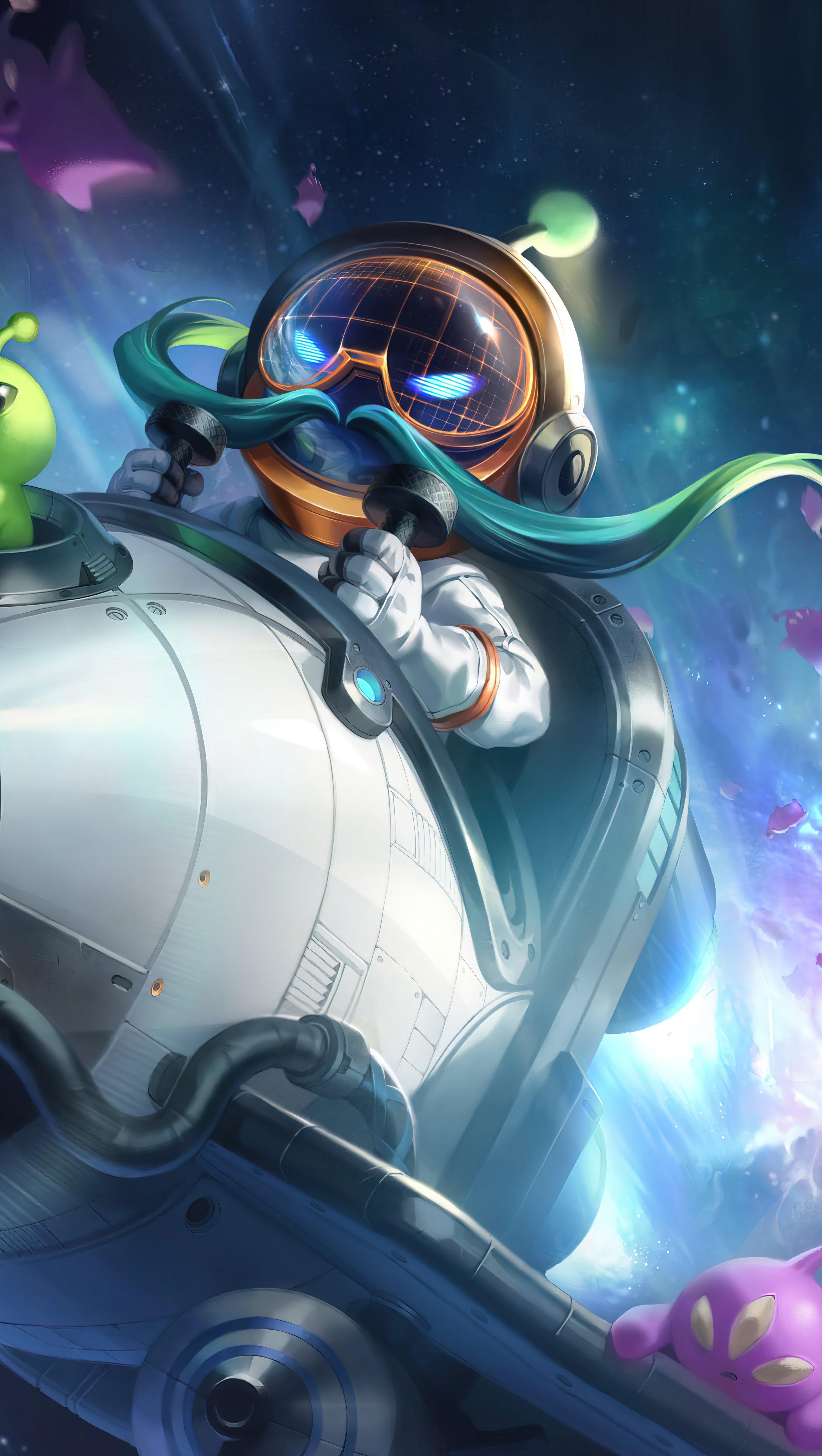 Fondos de pantalla Astronauta Corki League of Legends Splash Art Vertical