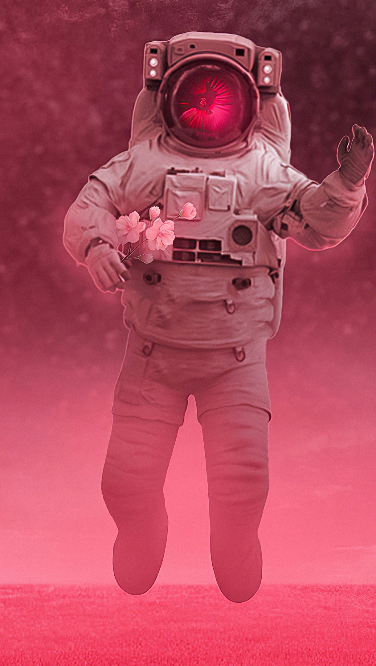 Wallpaper Astronaut floating in space Vertical