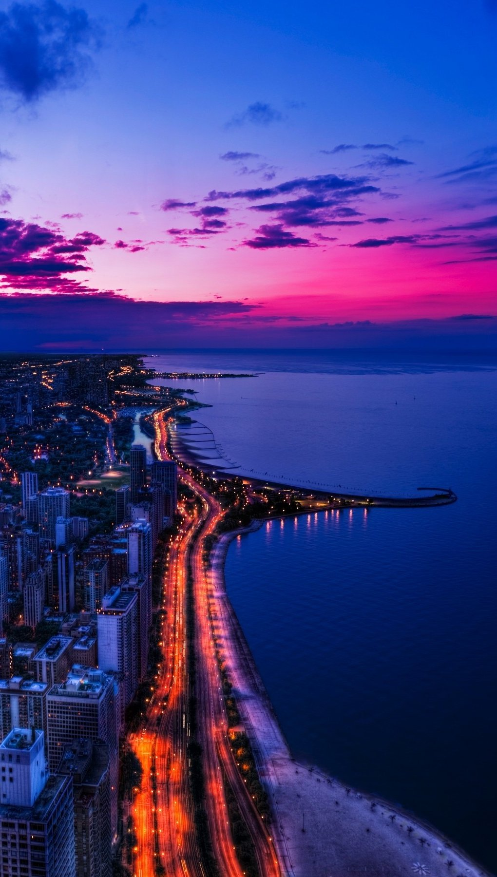 Wallpaper Sunset in Chicago Vertical
