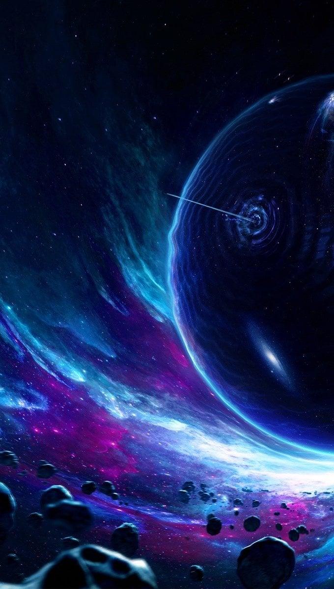 Fondos de pantalla Atravesando un planeta Vertical