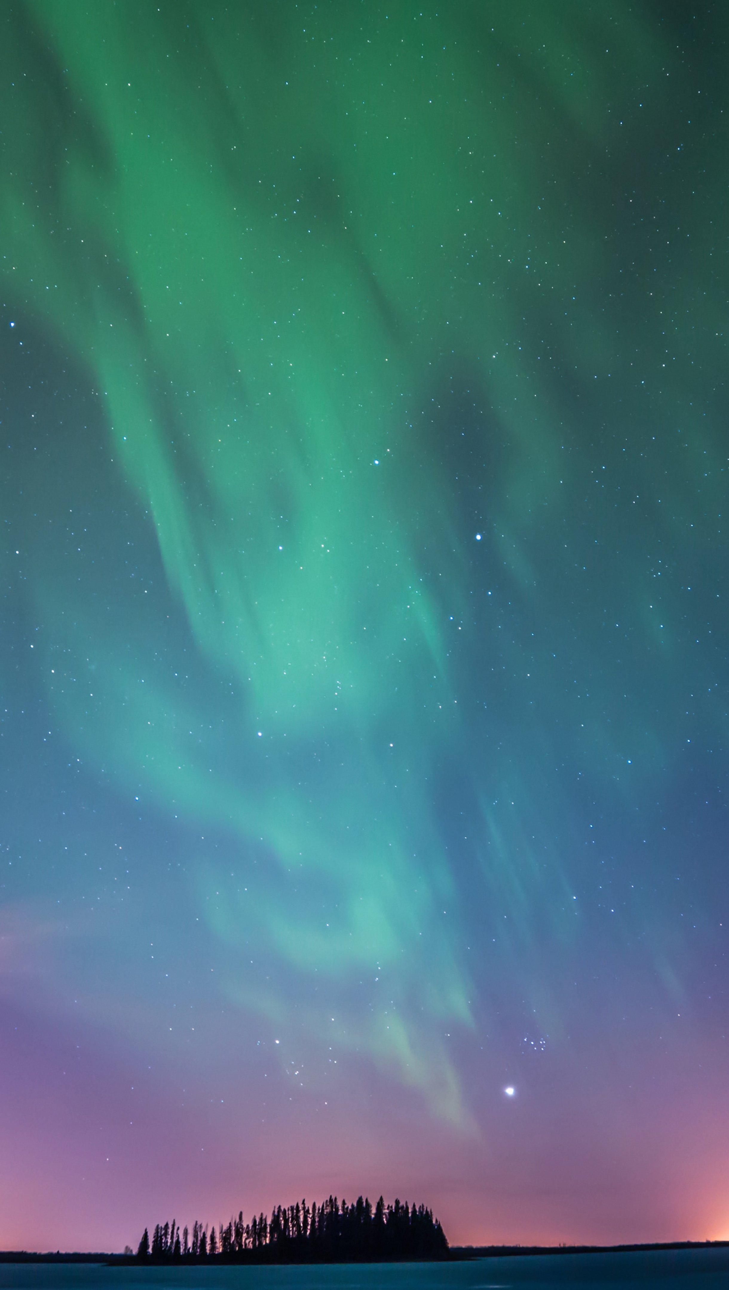 Fondos de pantalla Aurora polar Vertical