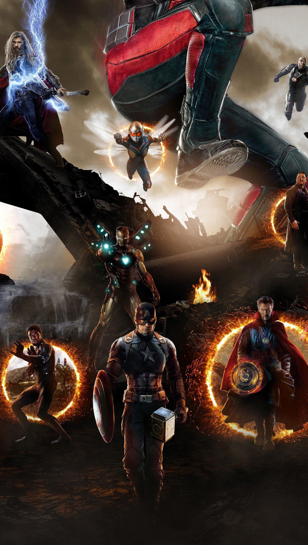 Fondos de pantalla Avengers: Endgame batalla final Vertical