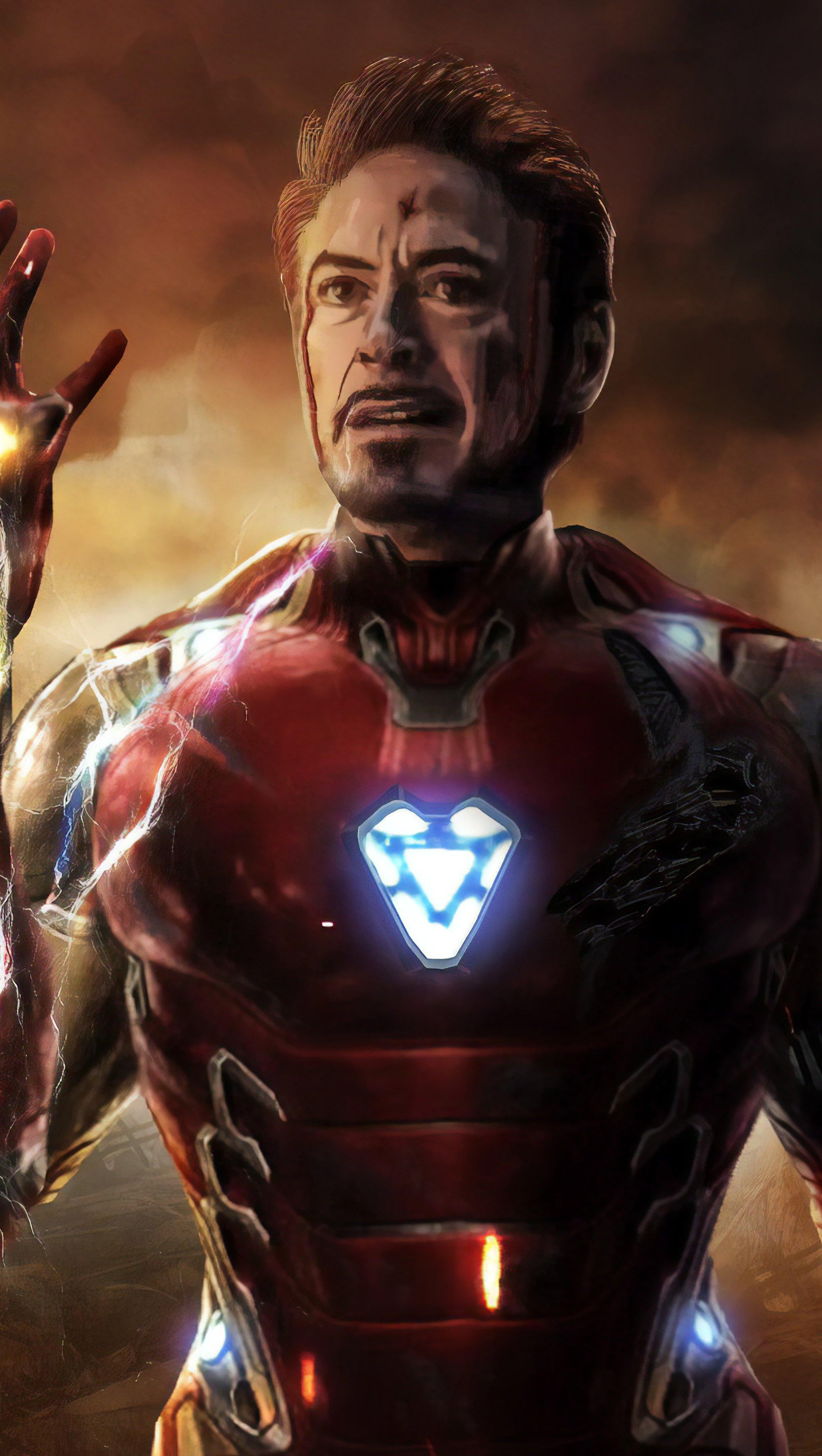 Fondos de pantalla Avengers Endgame Iron Man Tony Stark Gemas del Infinito Vertical