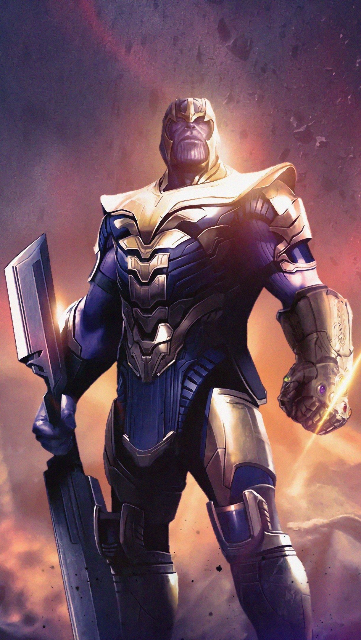Fondos de pantalla Avengers: Endgame Thanos Weapon Vertical