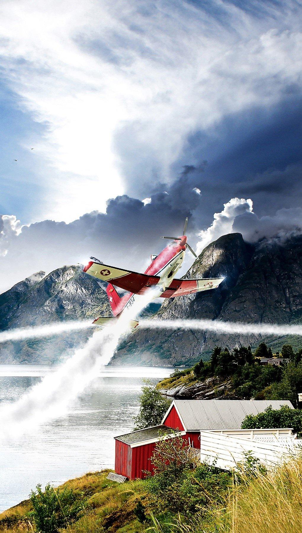 Wallpaper Norwegian Aviation Vertical