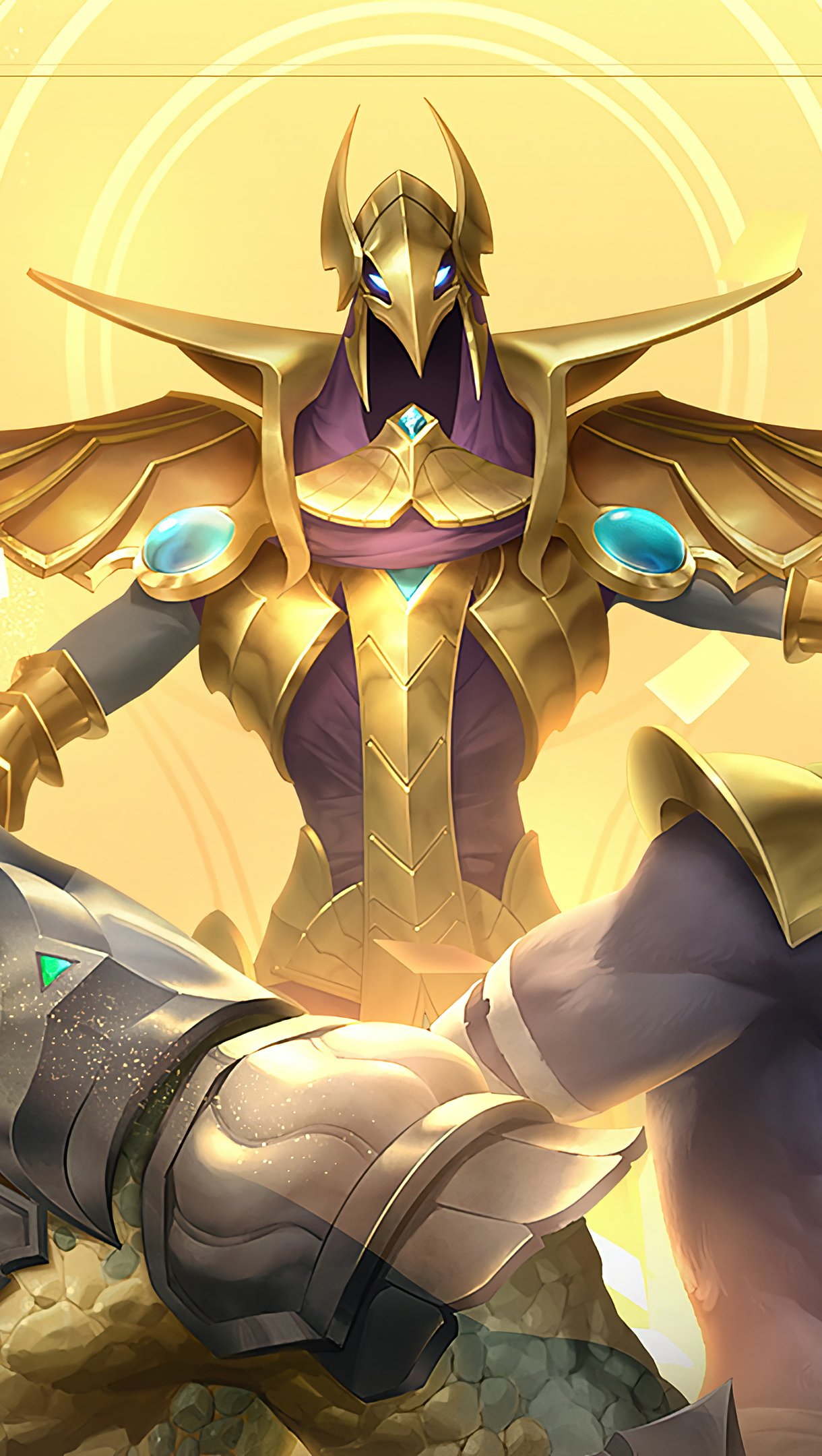 Fondos de pantalla Azir Renekton Nasus Legends of Runeterra Vertical