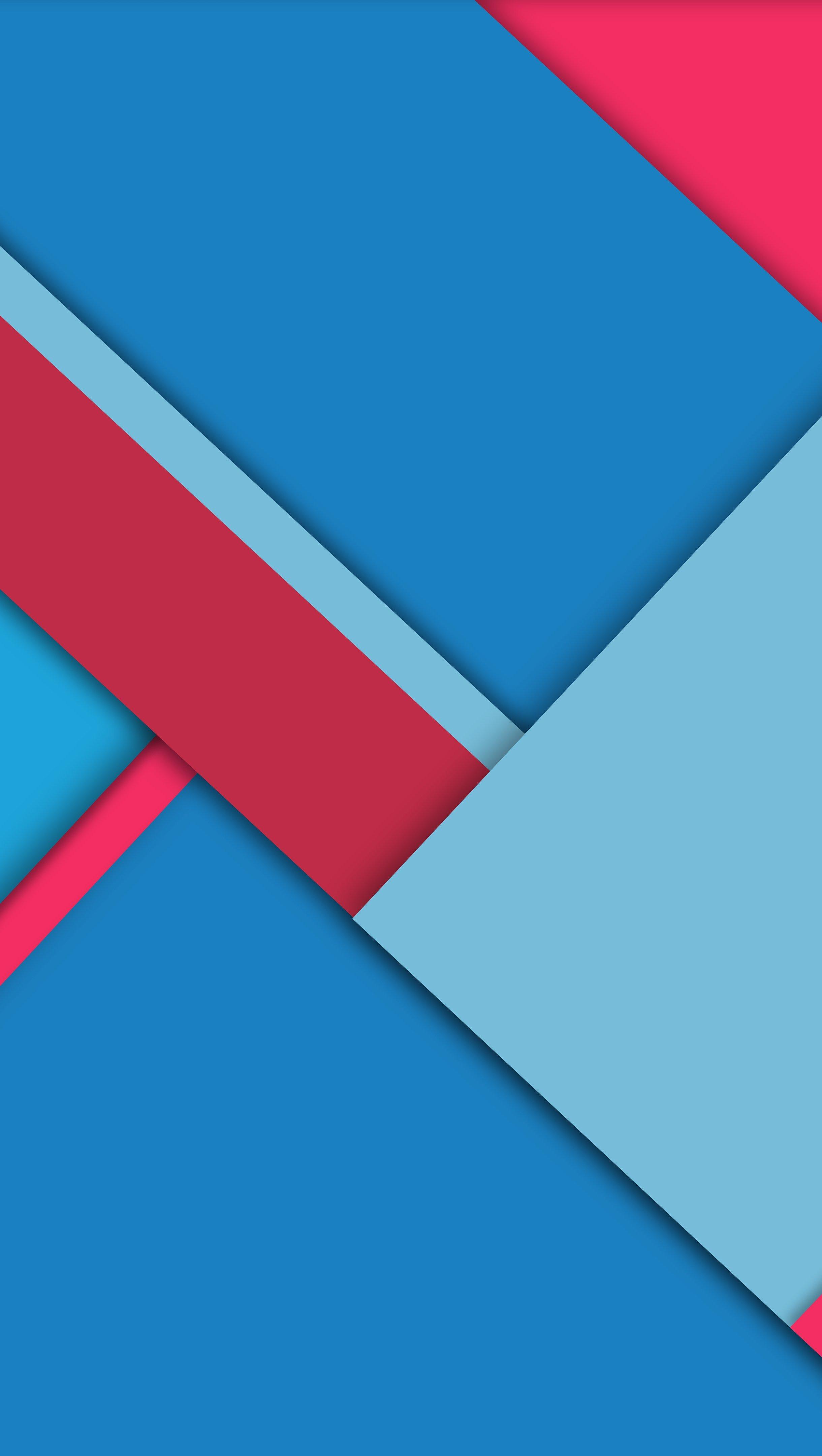 Fondos de pantalla Azul y rojo en bloques Vertical