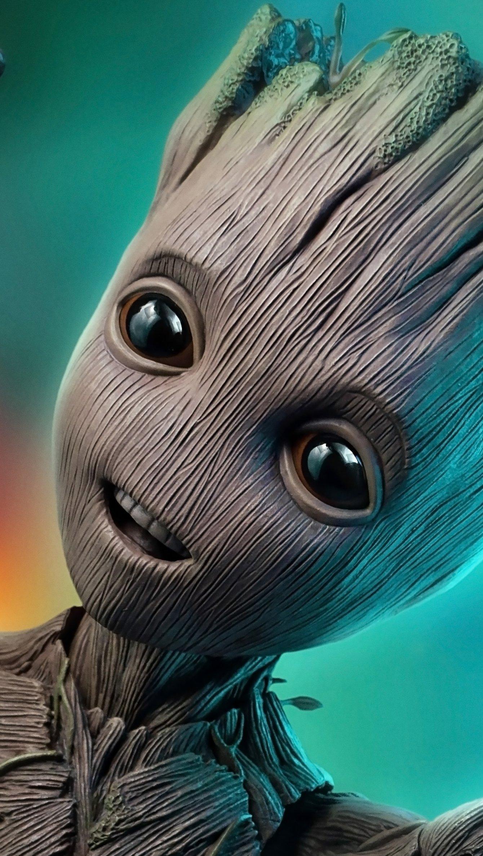 Fondos de pantalla Baby Groot de Guardianes de la Galaxia Vertical