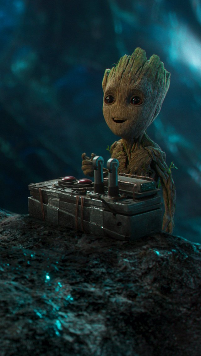Wallpaper Baby Groot Guardians of the Galaxy Vertical