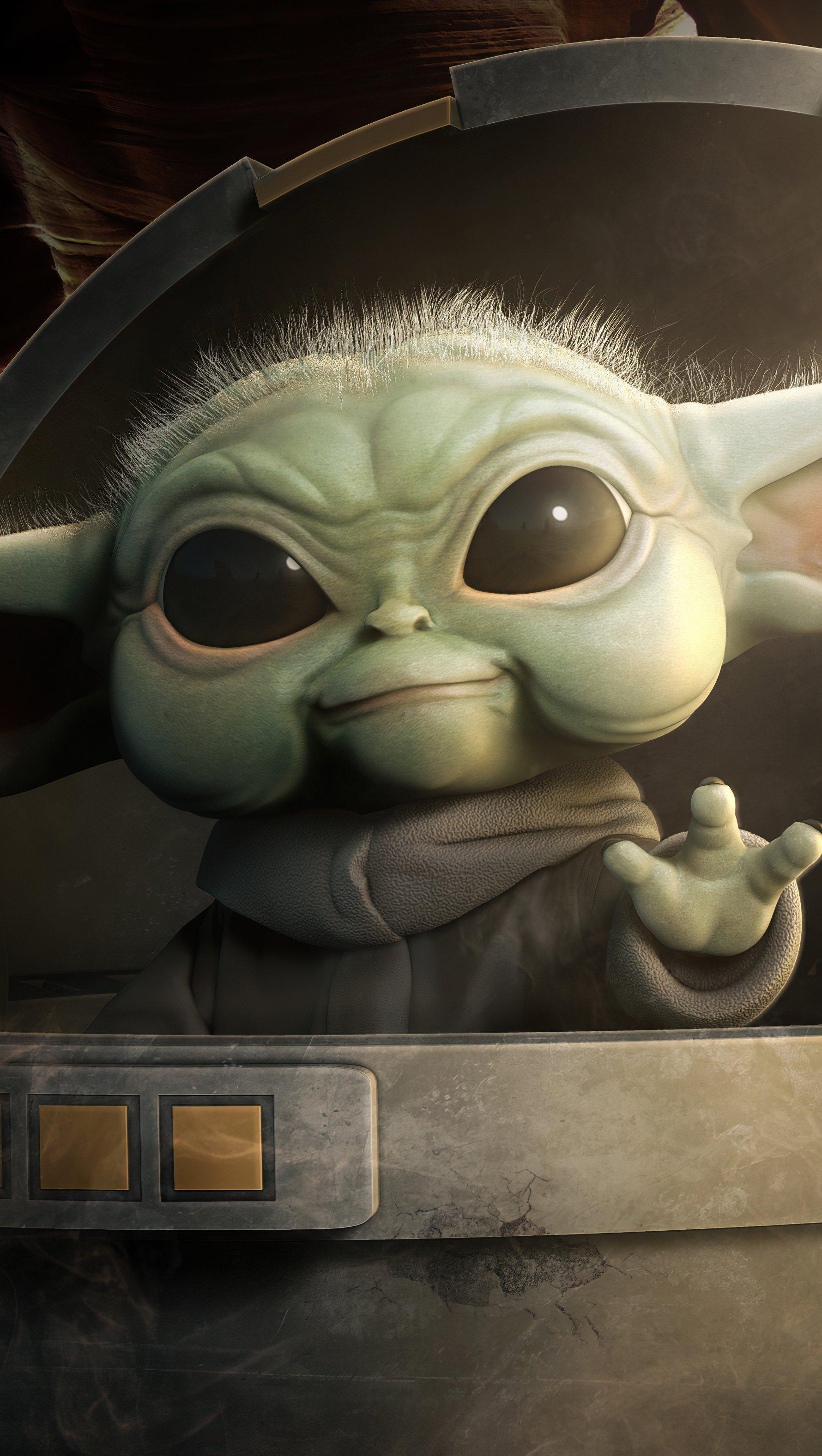 Fondos de pantalla Baby Yoda Vertical