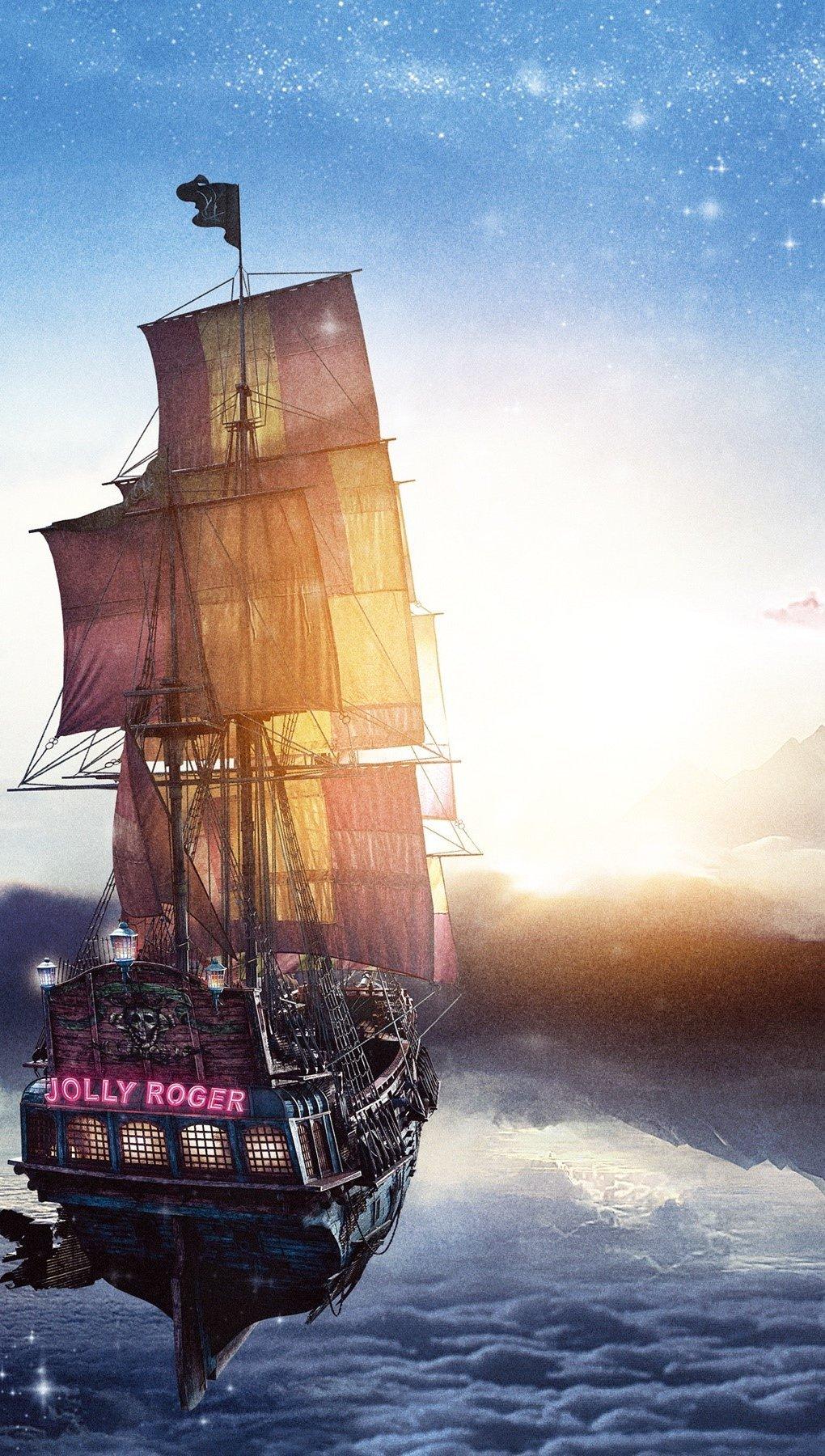 Fondos de pantalla Barco pirata Jolly Roger de Pan Vertical