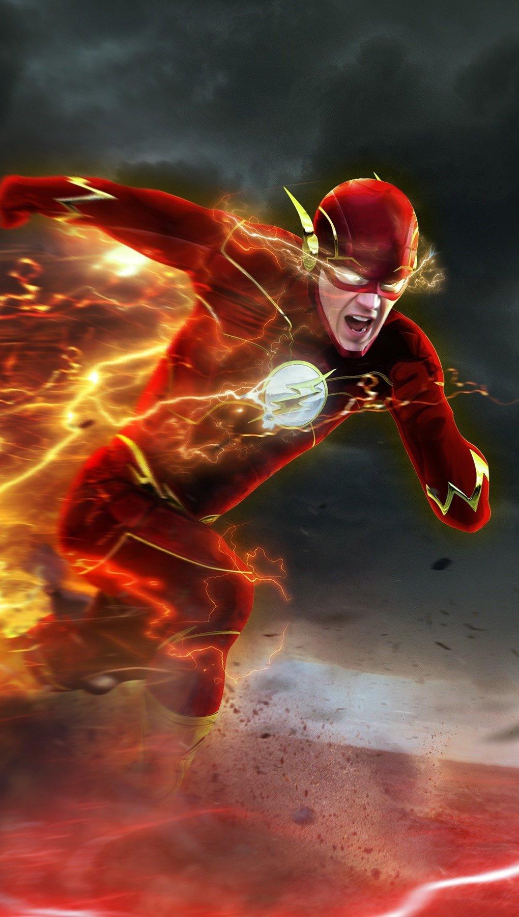 Wallpaper Barry Allen as Flash Vertical