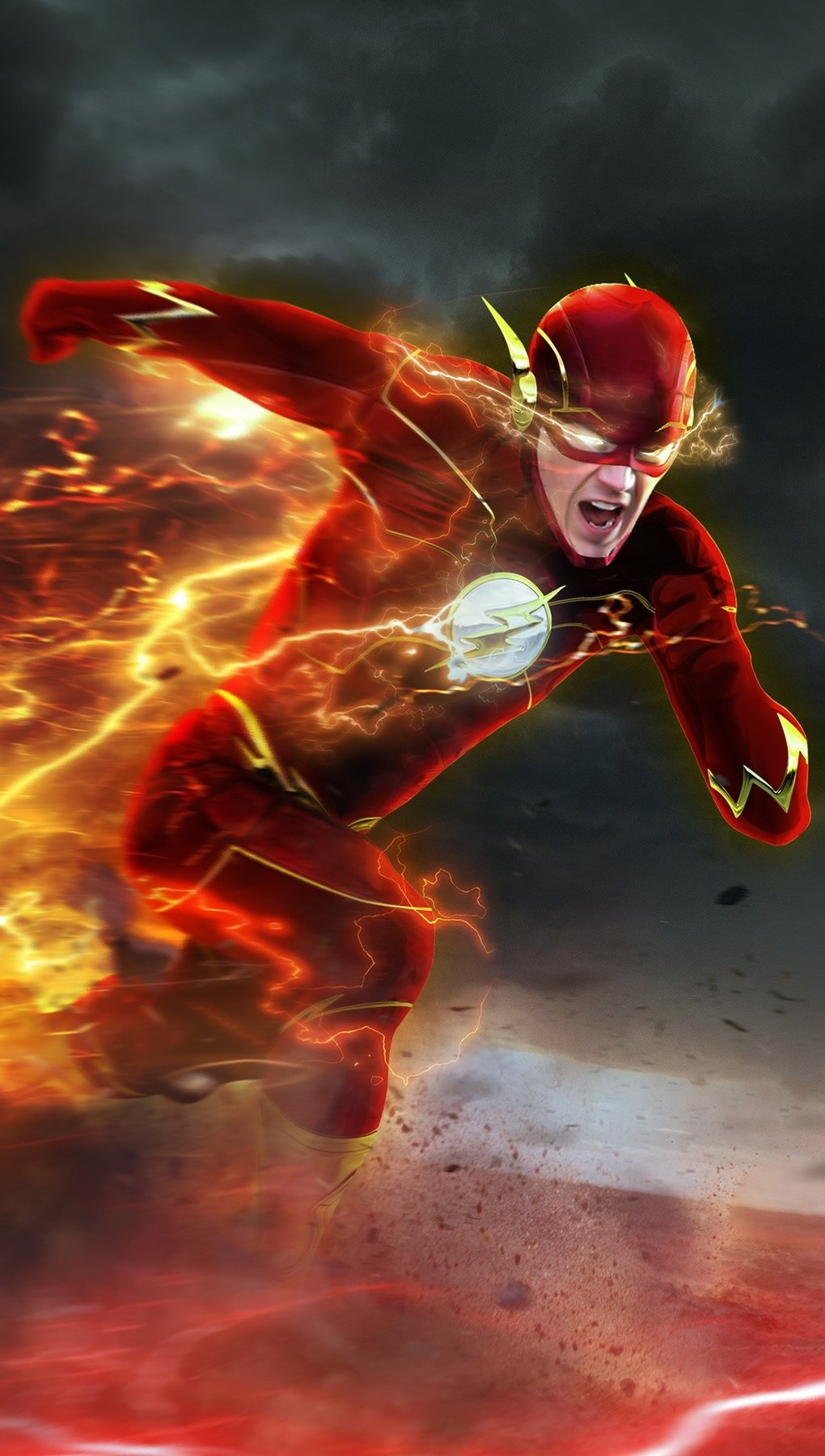 Wallpaper Barry Allen in Flash Vertical