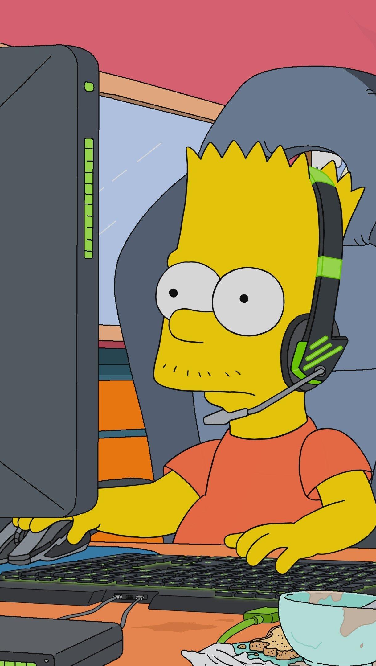 Wallpaper Bart Simpson eSports Gaming Vertical