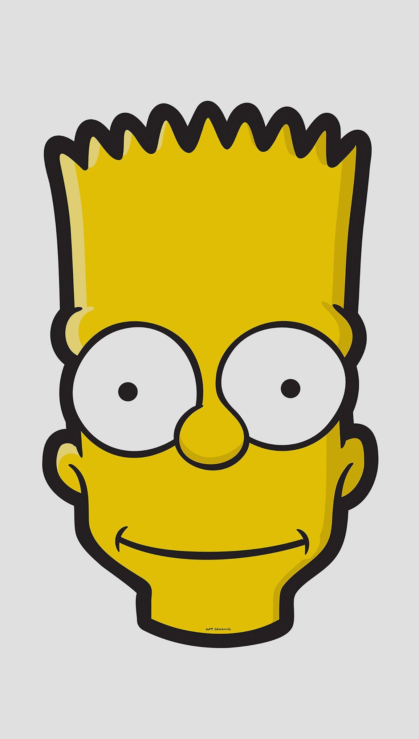 Fondos de pantalla Bart Simpson Minimalista Vertical