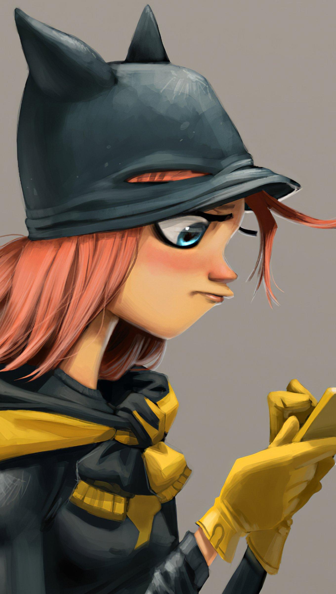 Fondos de pantalla Batgirl usando celular Vertical