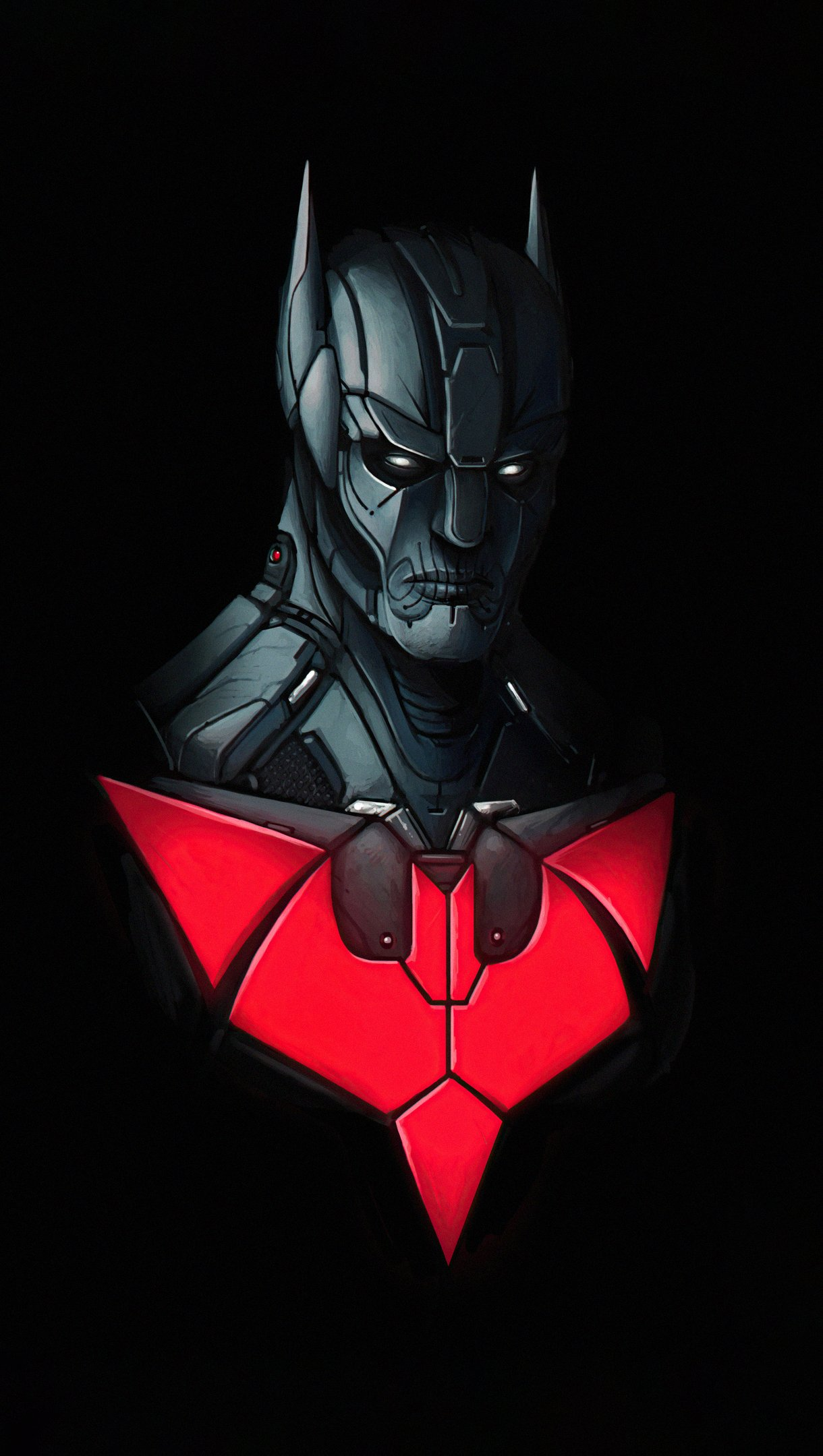 Fondos de pantalla Batman Beyond Dark Minimal Vertical