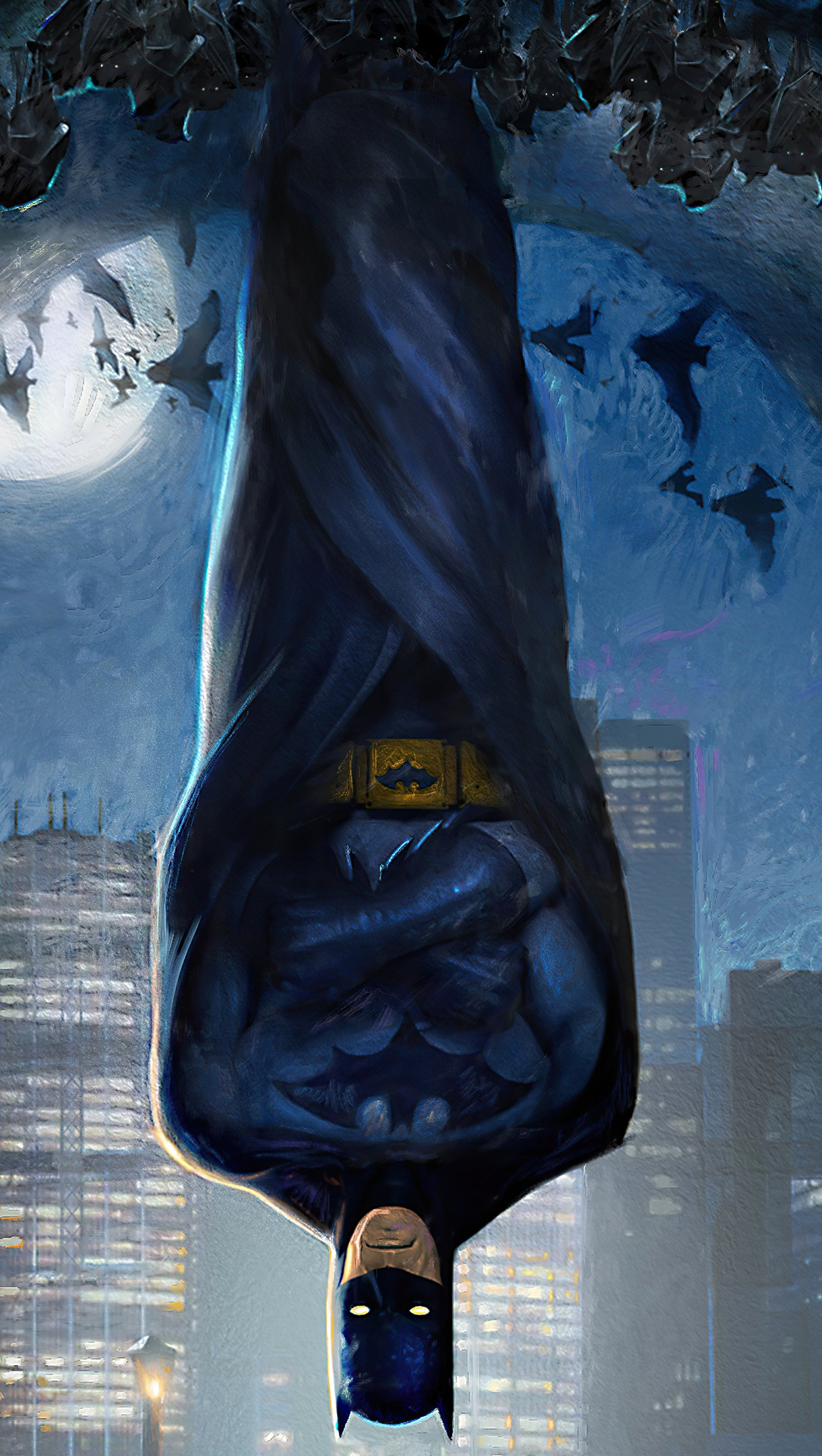 Fondos de pantalla Batman colgado del techo Vertical
