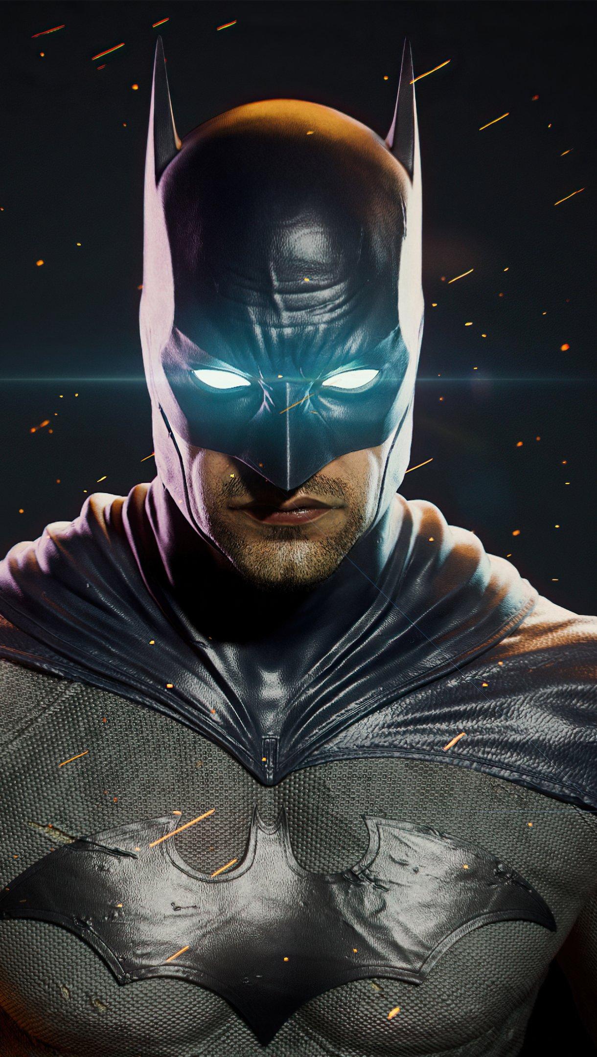 Wallpaper Batman glowing eyes Vertical