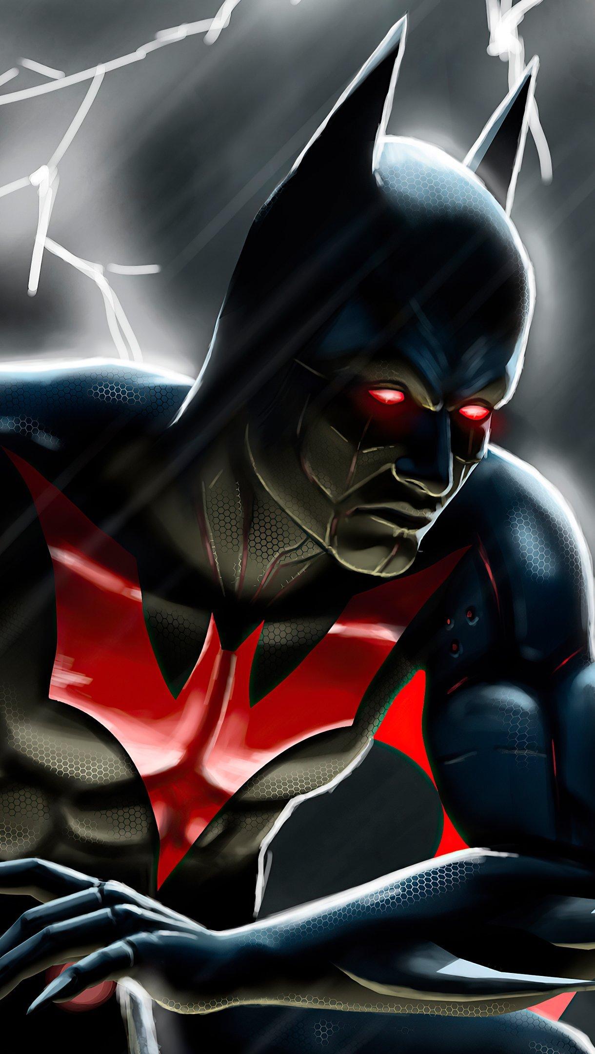 Fondos de pantalla Batman con traje negro y rojo Vertical
