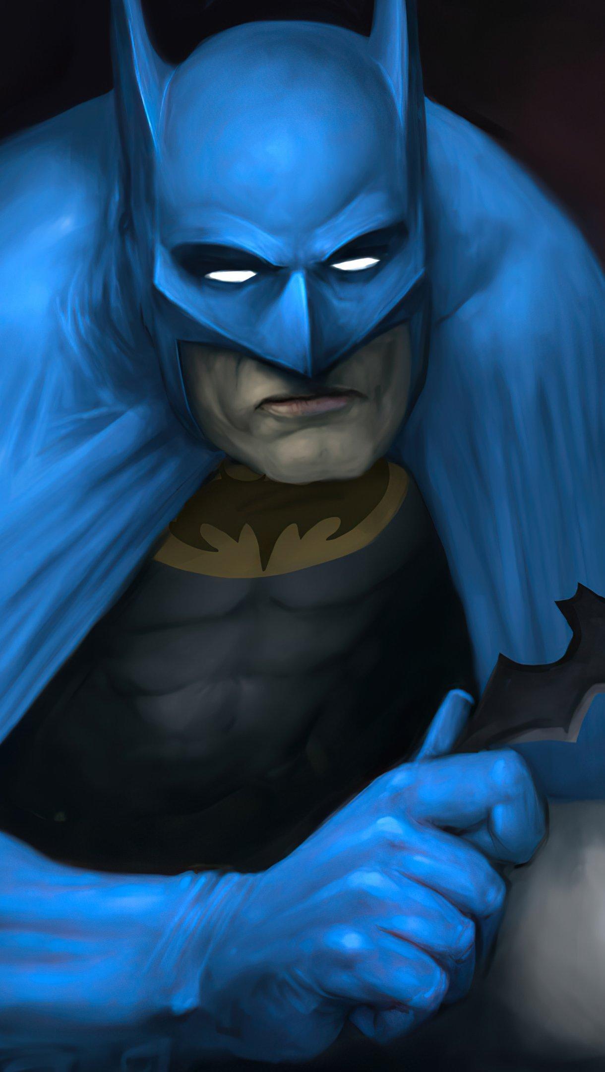 Wallpaper Batman with old suit Vertical