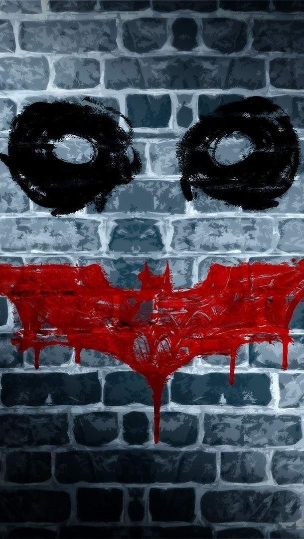 Fondos de pantalla Batman Dark Knight Joker Muro Vertical