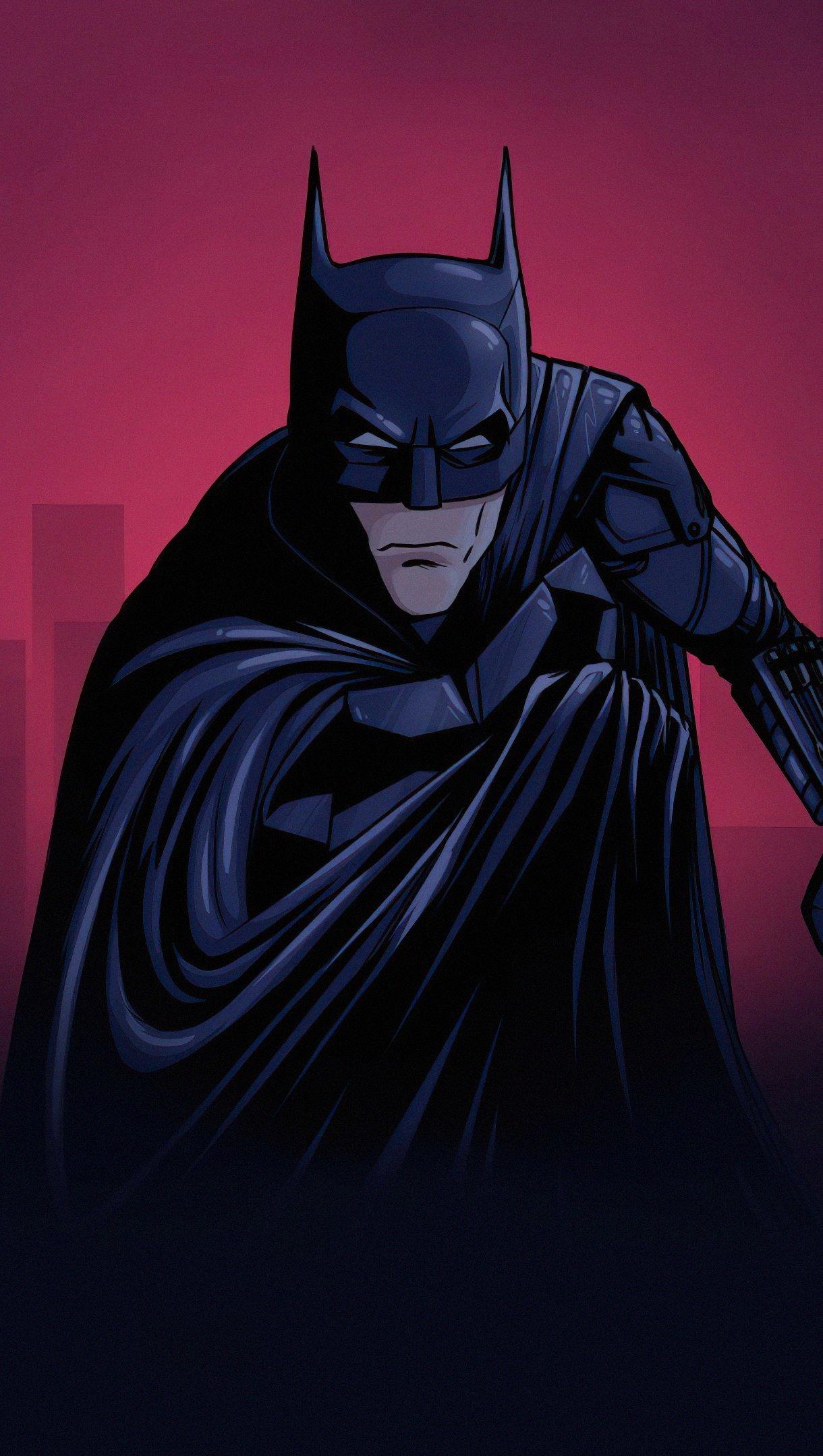 Fondos de pantalla Batman Dibujo Vertical