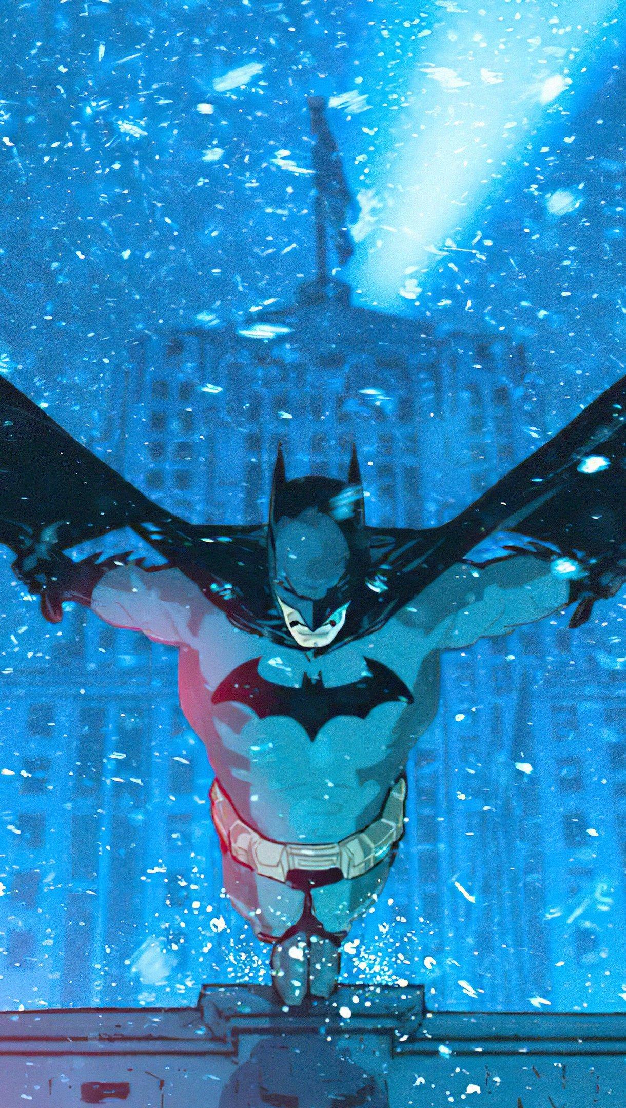 Wallpaper Batman in the city Vertical