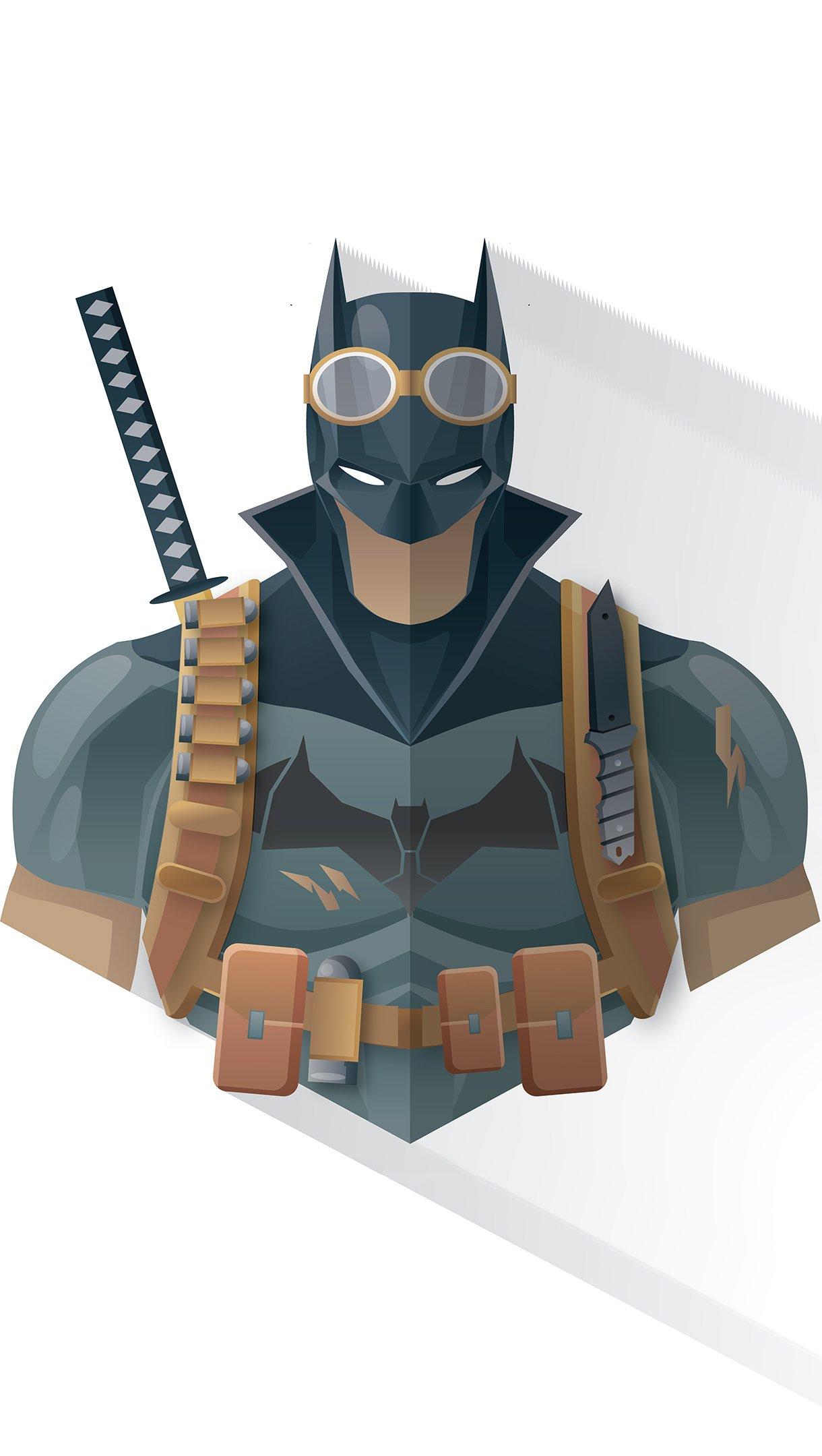 Wallpaper Batman Minimalist Illustration Vertical