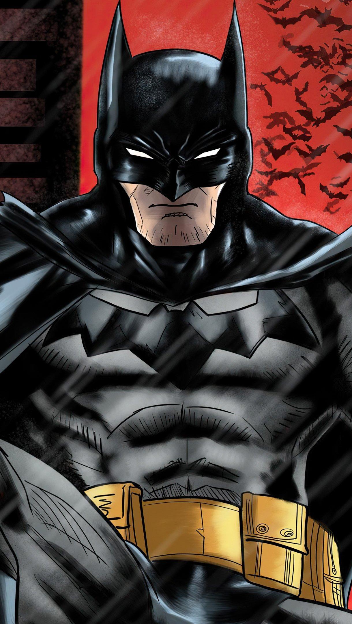 Fondos de pantalla Batman Ilutración digital Vertical