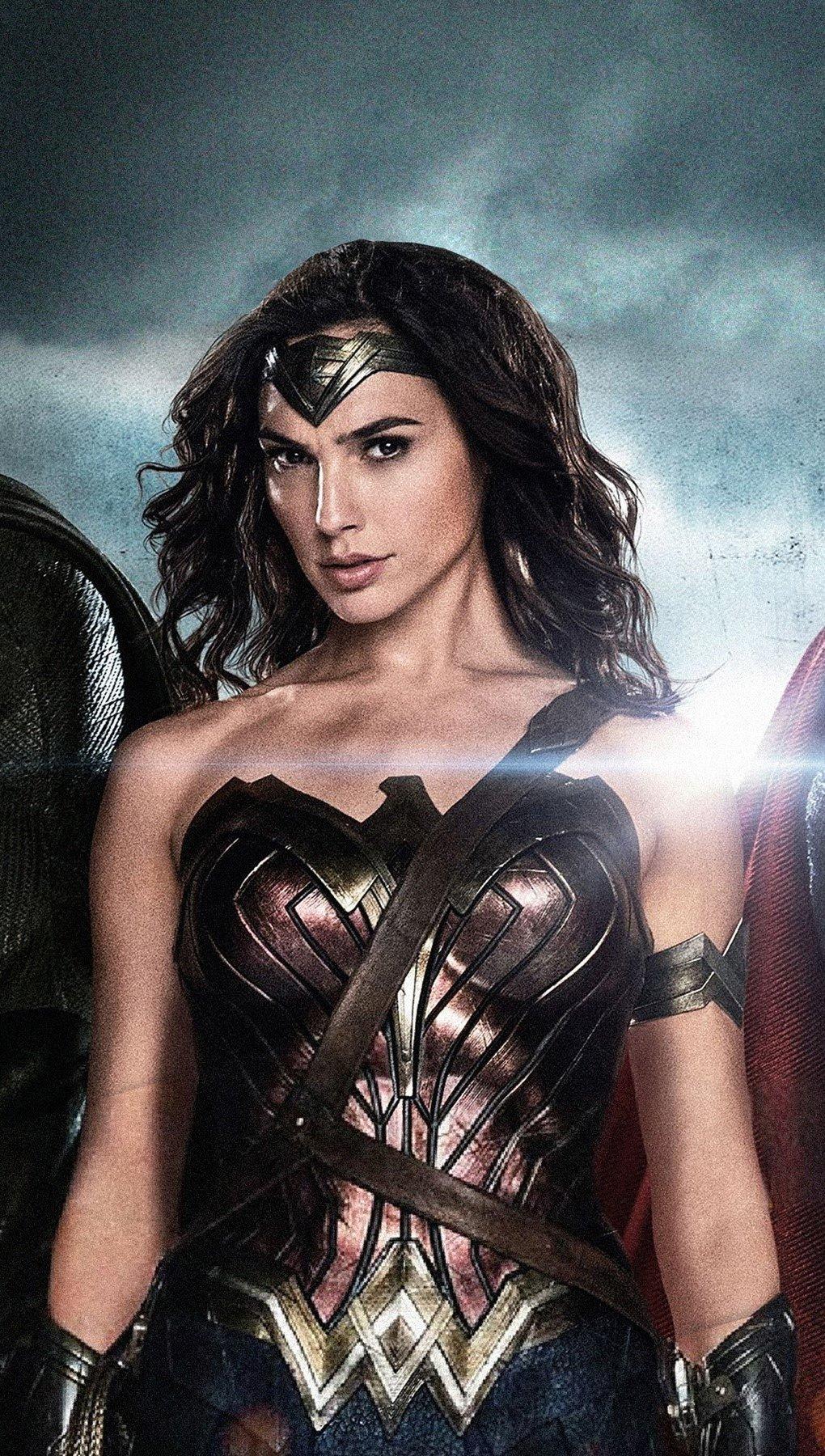 Fondos de pantalla Batman, la mujer maravilla y superman Vertical