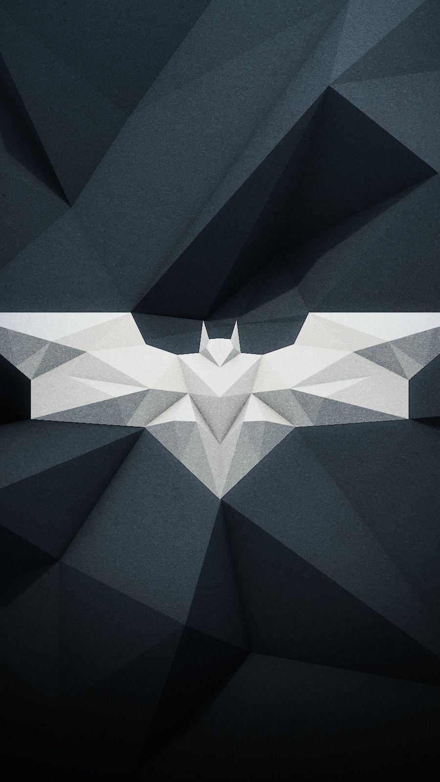 Fondos de pantalla Batman Logo Poligonal Vertical