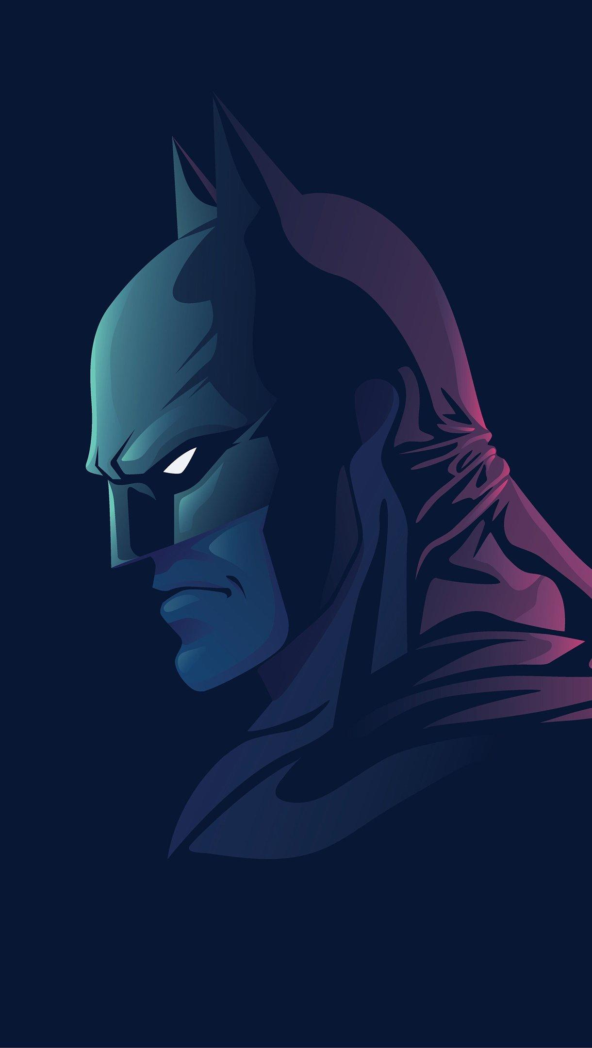 Wallpaper Batman Minimalist Vertical