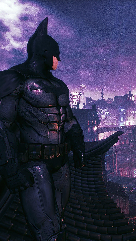 Fondos de pantalla Batman mirando la ciudad Vertical
