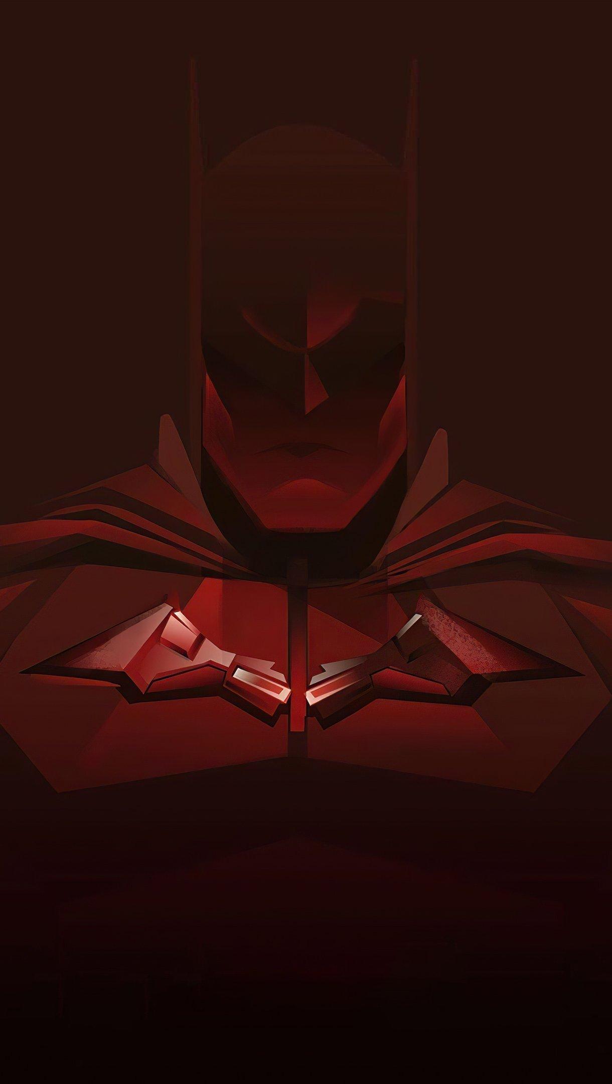 Wallpaper Red Batman Minimal Vertical