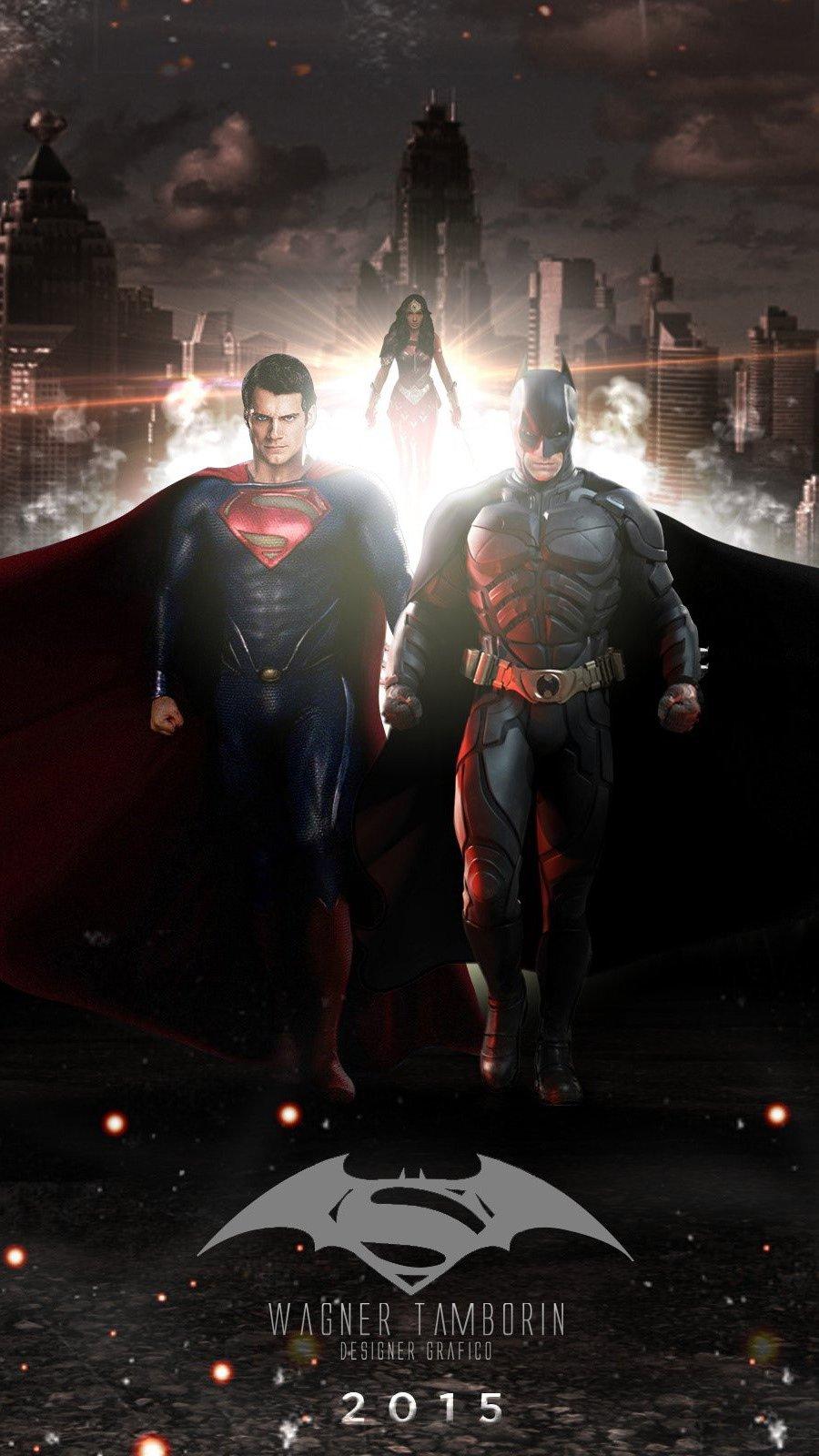 Wallpaper Batman V Superman Vertical
