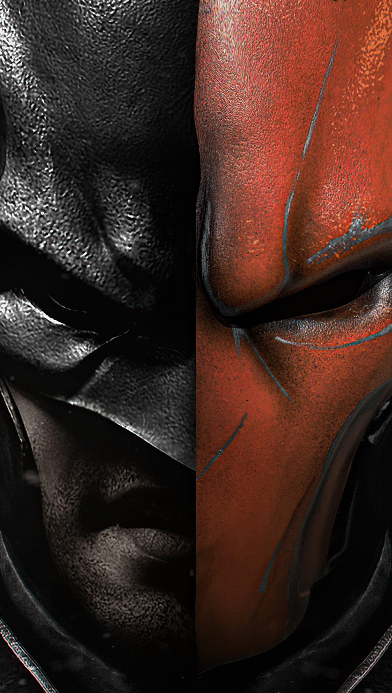 Fondos de pantalla Batman vs Deathstroke Vertical