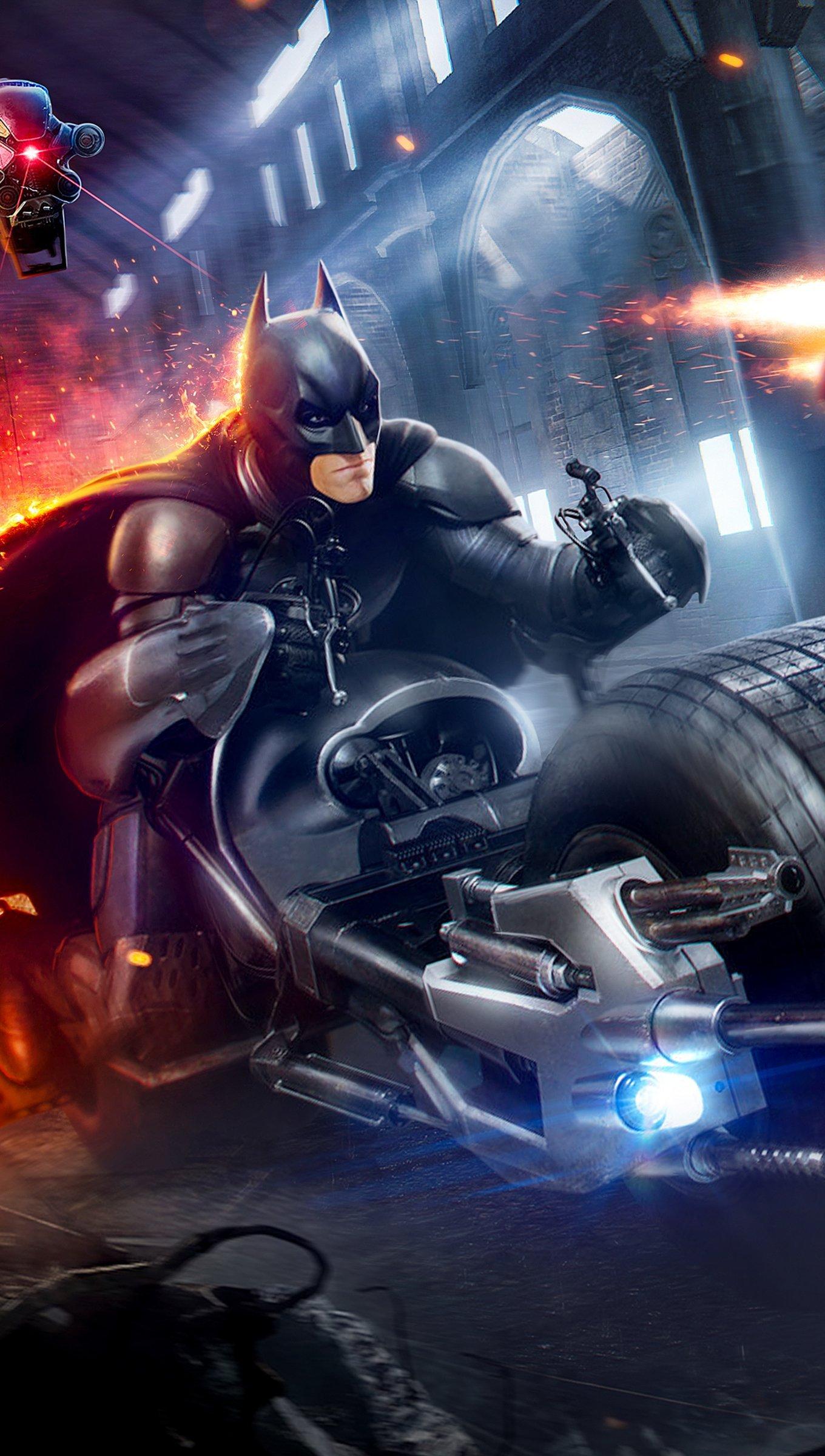 Wallpaper Batman and Iron man Vertical