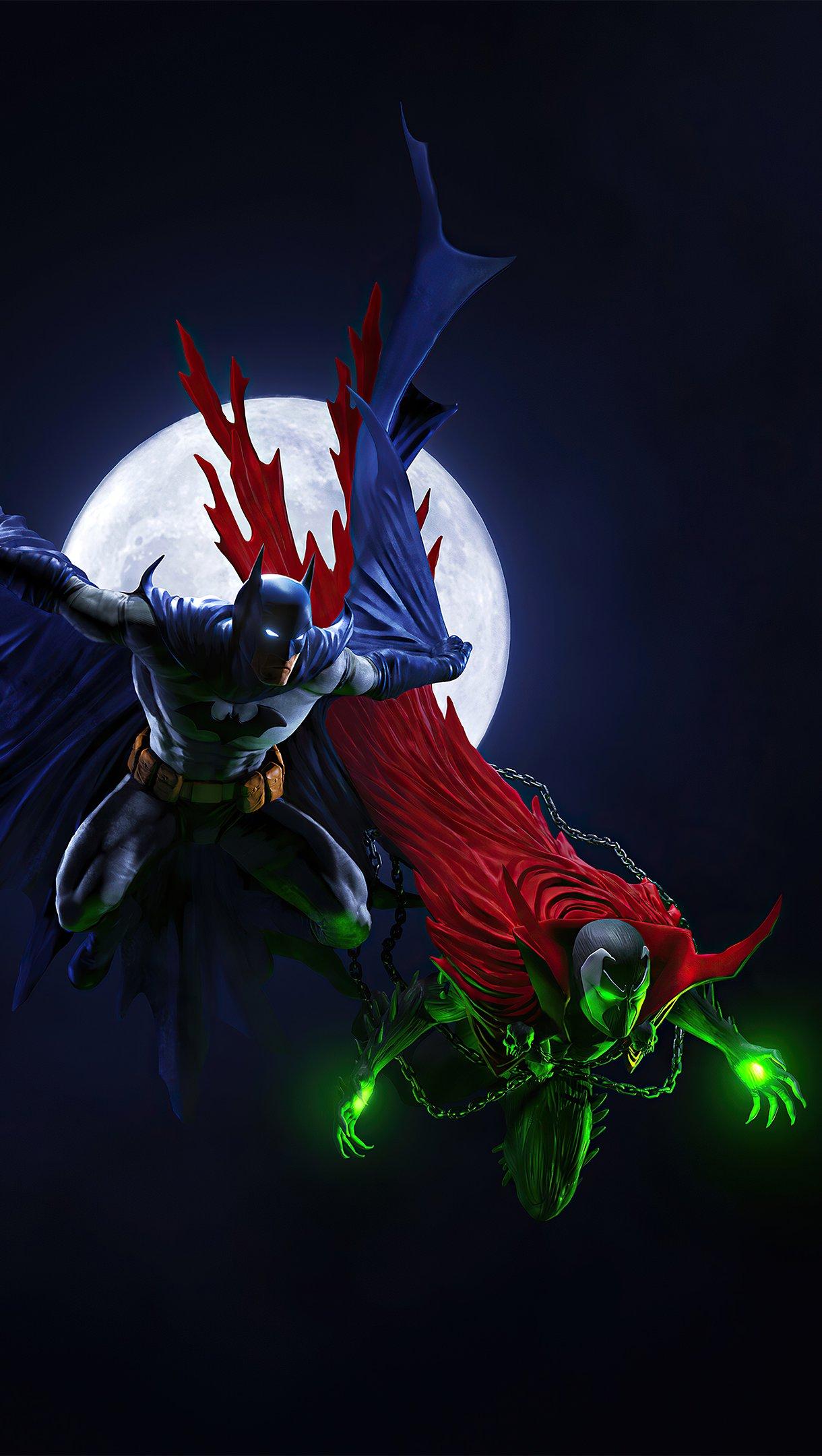 Fondos de pantalla Batman y Spawn Fanart Vertical