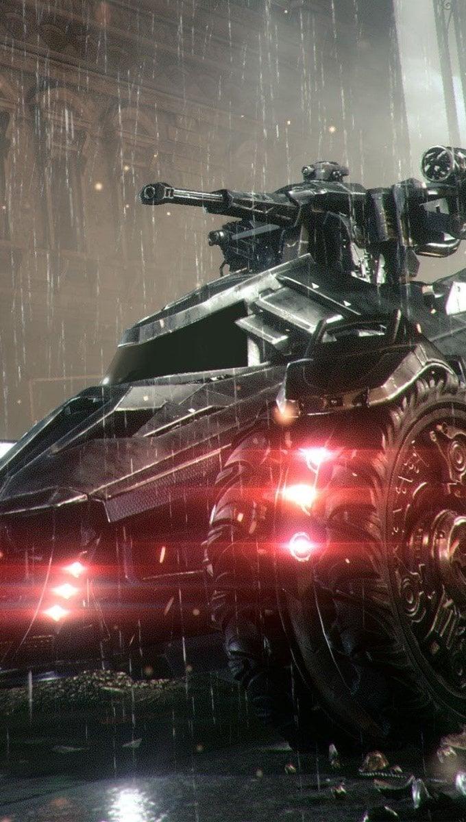 Fondos de pantalla Batmobilen en Arkham Knight Vertical