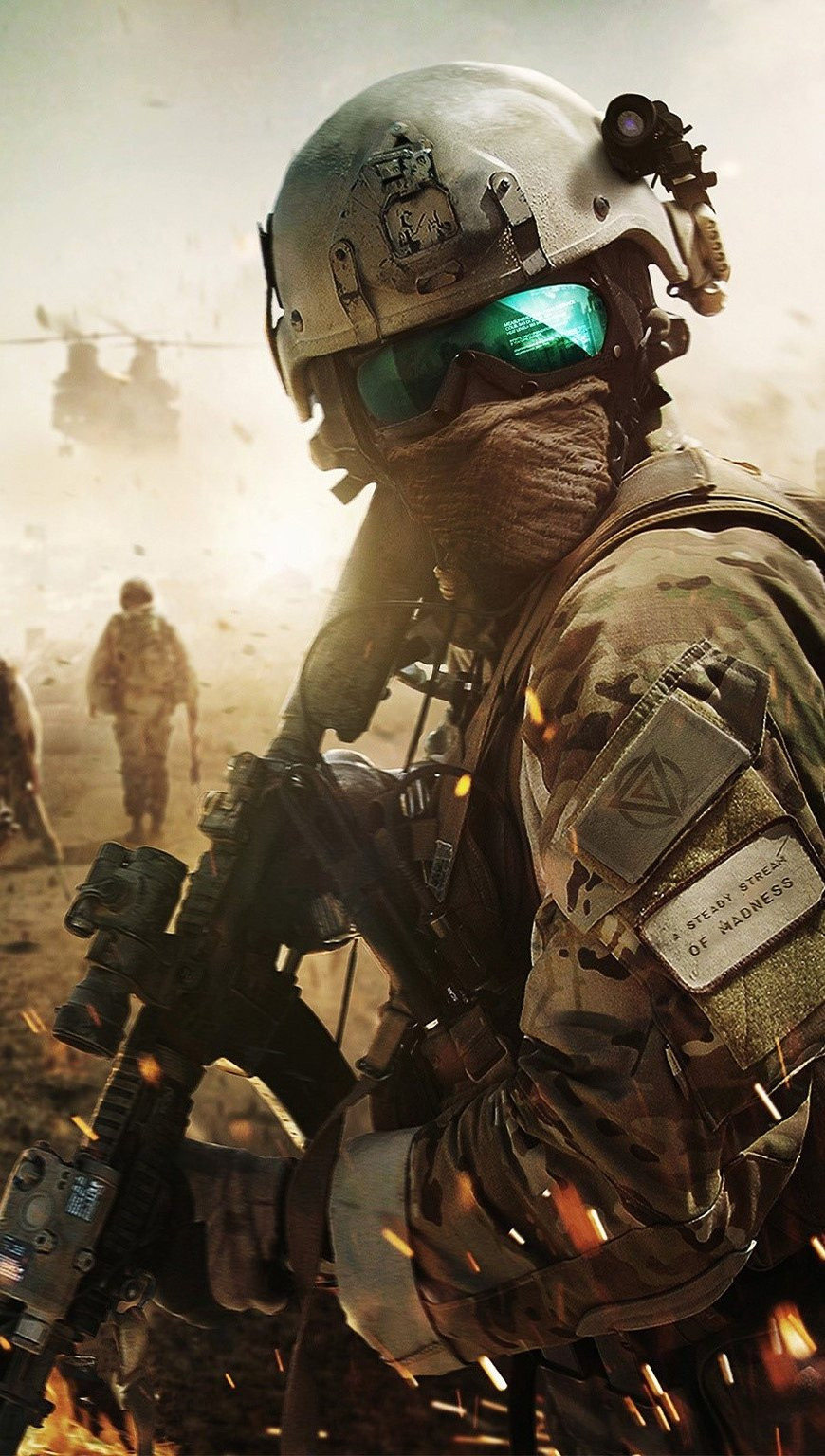 Wallpaper Battlefield Soldier Vertical