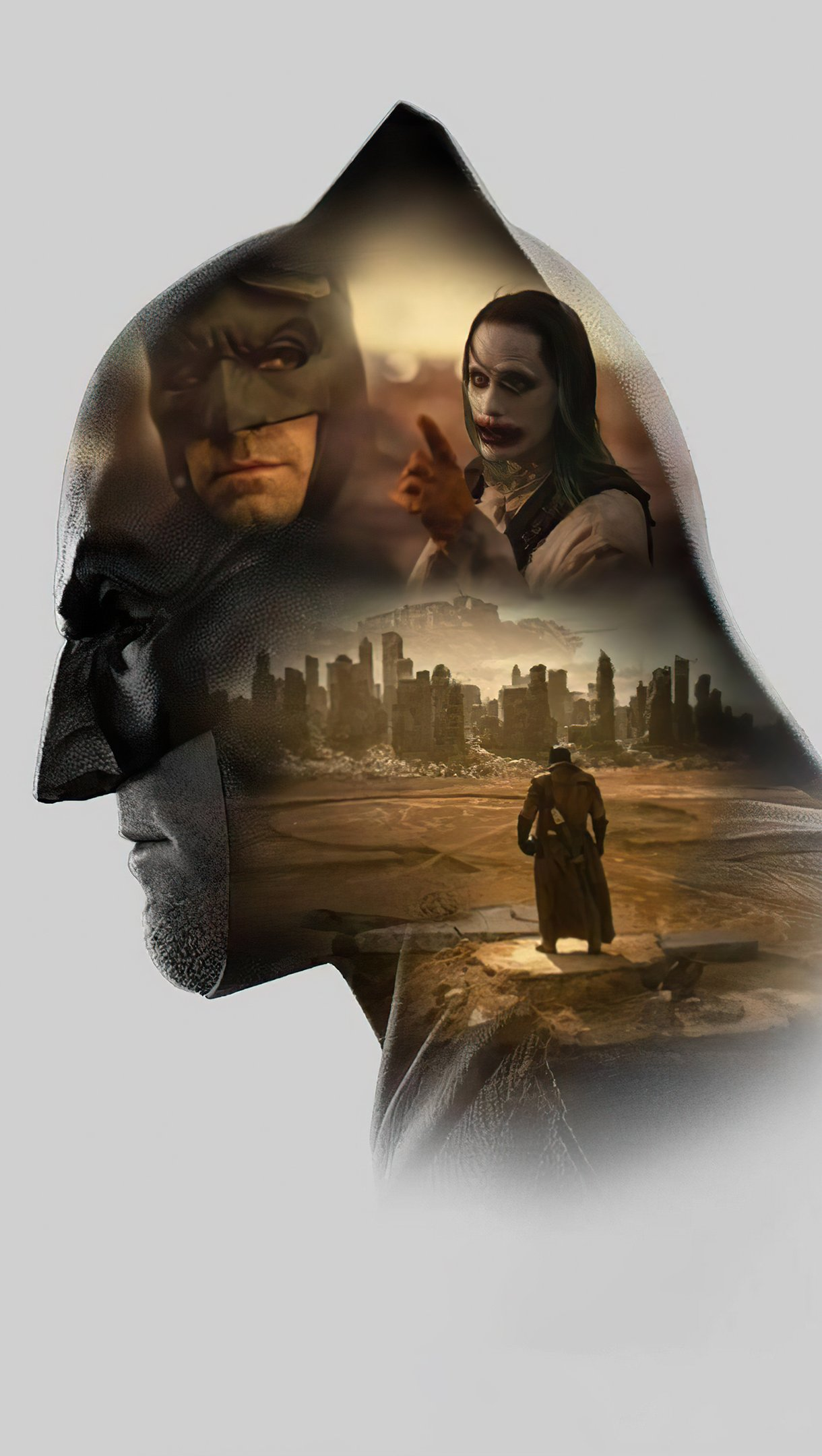 Fondos de pantalla Ben Affleck como Batman Zack Snyder's Liga de la justicia Minimalista Vertical