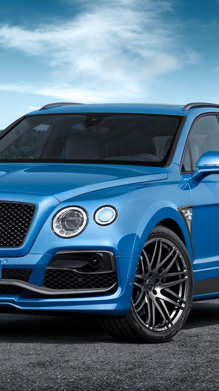 Fondos de pantalla Bentayga  azul de Bentley Vertical