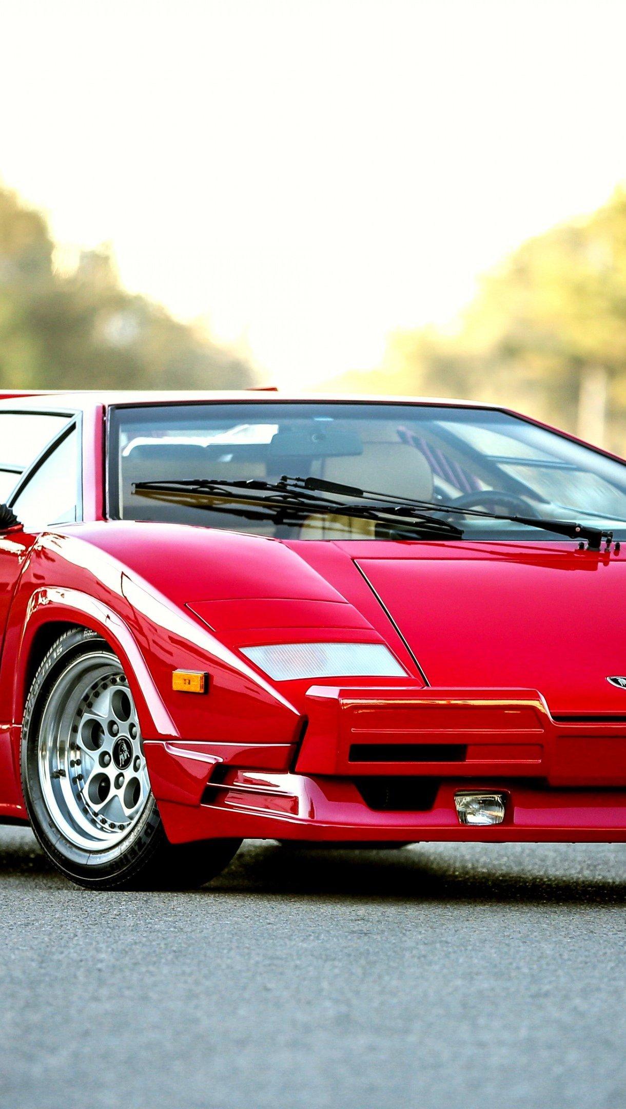 Fondos de pantalla Bertone Lamborghini Countach rojo Vertical