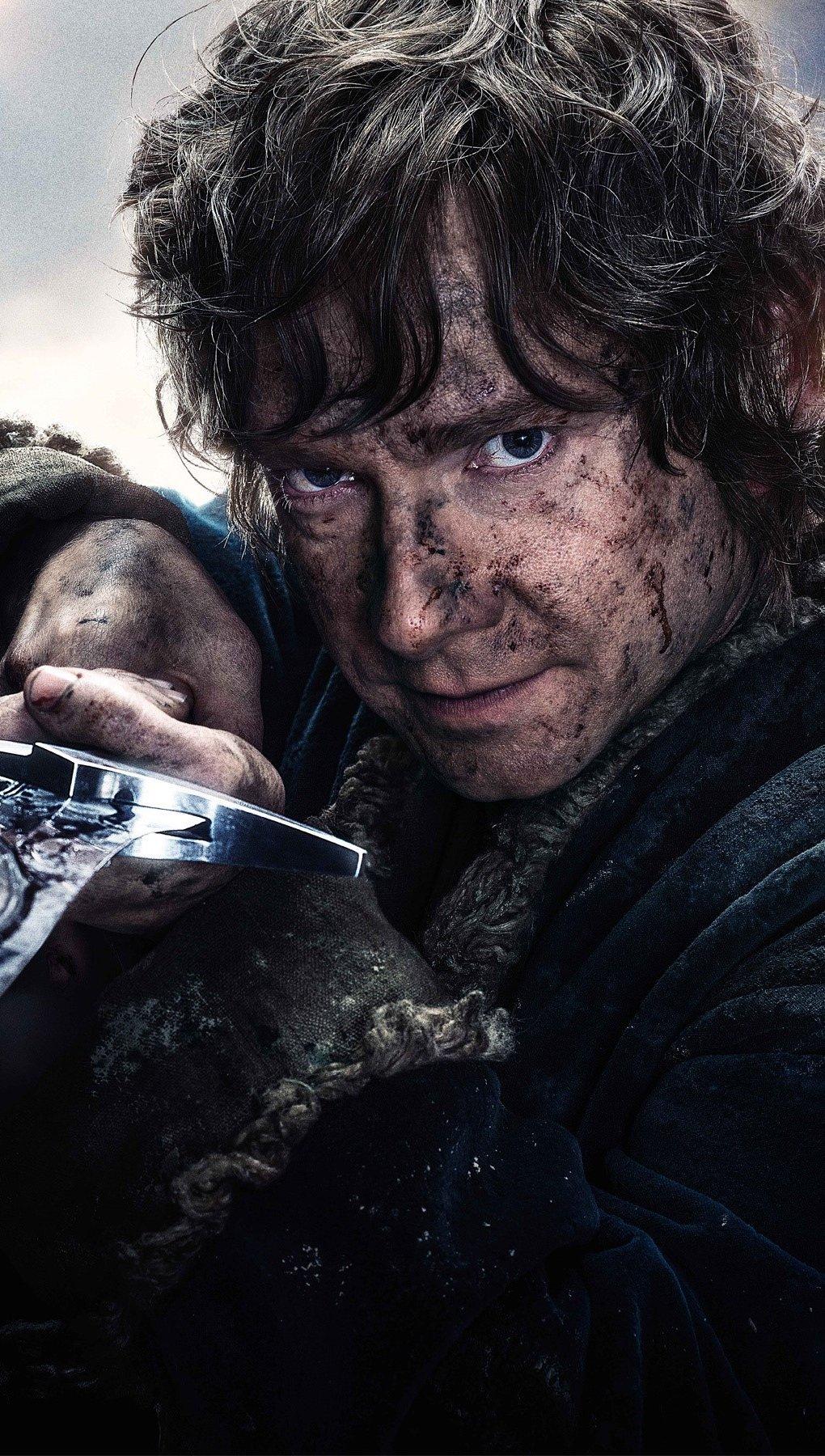 Fondos de pantalla Bilbo Baggins en El Hobbit 3 Vertical